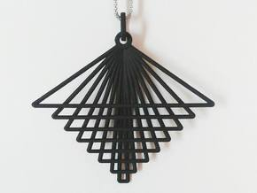 Hindi Pendant in Black Natural Versatile Plastic
