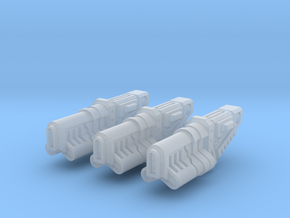 Long Chambered Ion Repeater x3 in Smoothest Fine Detail Plastic