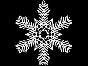 Austin snowflake ornament in White Natural Versatile Plastic