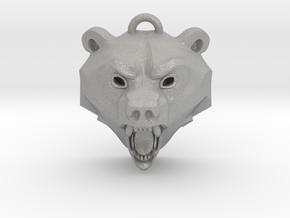 Bear Medallion (solid version) small in Aluminum: Small