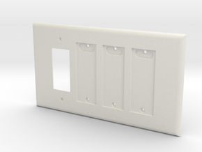 Philips Hue Triple Dimmer Plate Right 4 Gang in White Natural Versatile Plastic