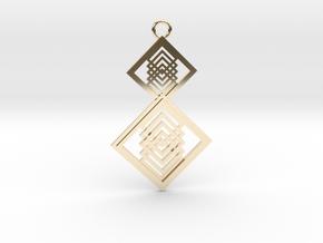 Geometrical pendant no.15 in 14K Yellow Gold