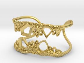 Cosplay Club Cuff in Polished Brass