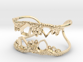 Cosplay Club Cuff in 14k Gold Plated Brass