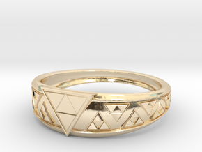 Triangle Force  in 14K Yellow Gold: 6 / 51.5