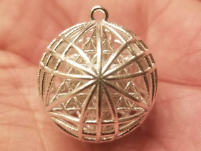 """Tantric Star of Awesomeness Pendant 1""""  in Natural Silver"""