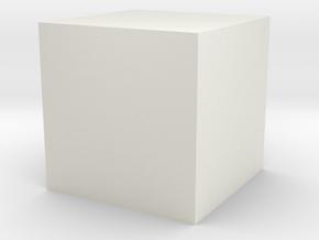 Zen Dice 1 in White Natural Versatile Plastic