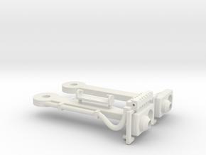 Magnet - Scharfenbergkupplung Straßenbahn 1:22,5 B in White Natural Versatile Plastic