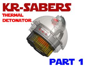 KR-Sabers - Thermal Detonator Chassis Part2 in White Natural Versatile Plastic