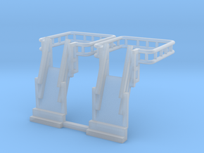 N Scale Tank Car loading Bridge 2x Up in Smooth Fine Detail Plastic