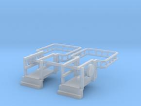 N Scale Tank Car loading Bridge 2x Down in Smooth Fine Detail Plastic