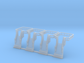 N Scale Tank Car loading Bridge 4x Up in Smooth Fine Detail Plastic