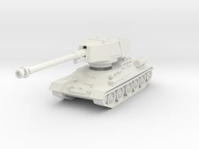 T34-100 tank scale 1/87 in White Natural Versatile Plastic