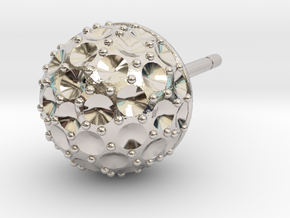 Ball Weighted Earring (part 1) in Rhodium Plated Brass