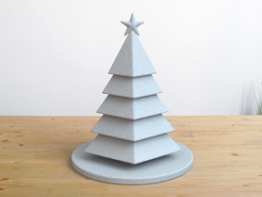 Christmas Tree Stylized Miniature 01 in White Natural Versatile Plastic