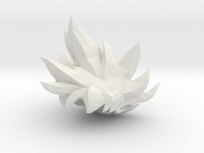 Custom Goku Ultra Instinct MINIMATE in White Natural Versatile Plastic