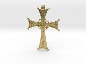 A Cross for All Christians in Natural Brass