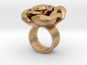 Rosa solitaria_M in Natural Bronze