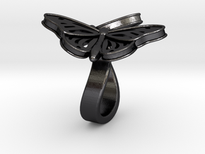 Butterflies in Love_L in Polished and Bronzed Black Steel