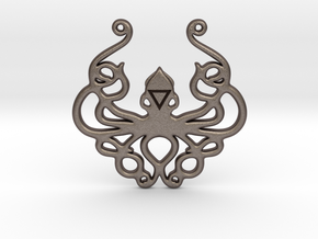 Mythological Elements - Kraken (Water) in Polished Bronzed-Silver Steel