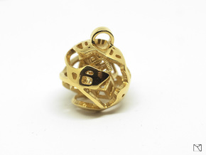 Pendant Abstract Ball in 18k Gold Plated Brass
