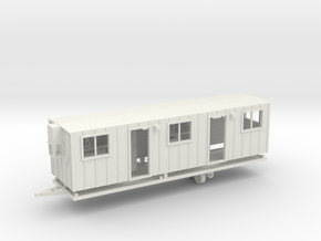 Construction Trailer Double Door 1-64 Scale in White Natural Versatile Plastic