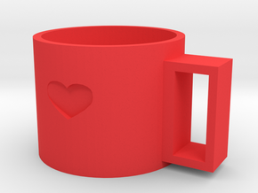cup in Red Processed Versatile Plastic
