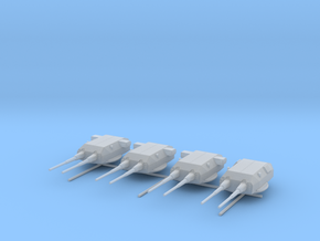 1/600 Bismarck and Tirpitz Turrets Set v2 in Smooth Fine Detail Plastic