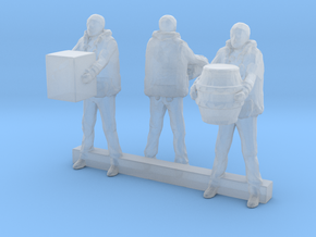 N Scale Dock Workers in Smooth Fine Detail Plastic