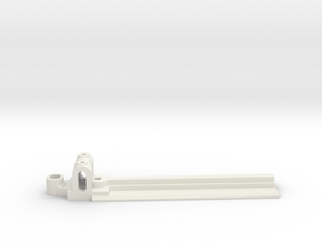 15mm Wide, 75mm long Front End, extended guide in White Natural Versatile Plastic