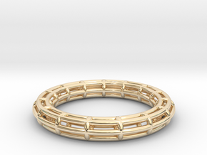 Ring Torus of circles in 14k Gold Plated Brass
