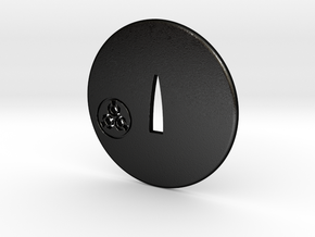 Tsuba kensaki dojo in Matte Black Steel