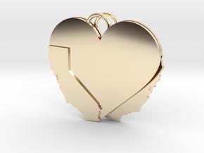 California Heart Earrings in 14k Gold Plated Brass