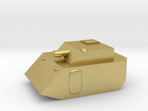 Fox2 Small Grav Tank 1:100 15mm in Natural Brass
