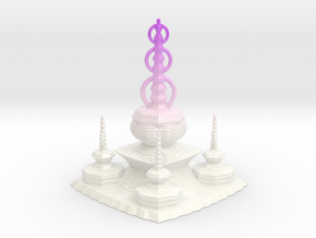 Pagoda in Glossy Full Color Sandstone