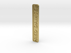 16mm Nameplate RED DAMSEL (Quarry Hunslet) in Natural Brass