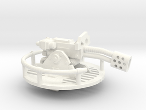 28mm Space Orc flamer turret in White Processed Versatile Plastic