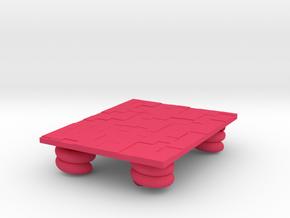 table in Pink Processed Versatile Plastic