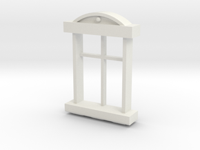 1:35 window frame in White Natural Versatile Plastic