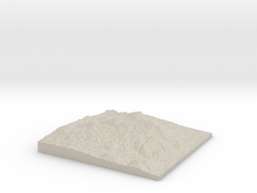 Model of Socorro Peak in Natural Sandstone