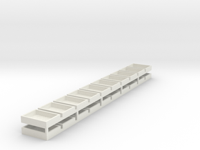 18x13x4 (20 Set) Speaker Boxes in White Natural Versatile Plastic