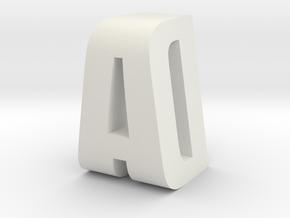 AD Monogram in White Natural Versatile Plastic