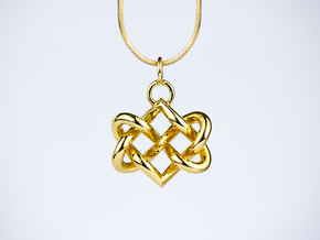 Celtic heart in 14k Gold Plated Brass