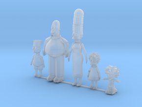 Comic Family including baby in Smoothest Fine Detail Plastic