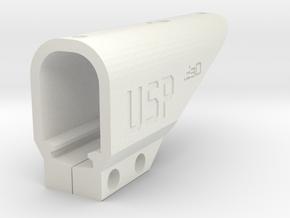 USP RIS Picatinny Rail Frame Challenge Kit in White Natural Versatile Plastic