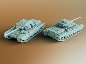 FV201 (A45) British Universal Tank Scale: 1:100 in Smooth Fine Detail Plastic