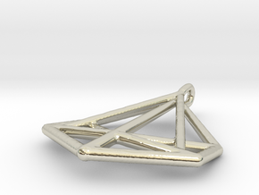 Triangle Pendant in 14k White Gold