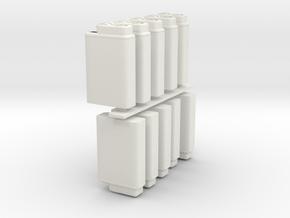 HandFlight4 SETx10PTS in White Natural Versatile Plastic