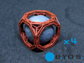 BYOS PART FUEL SPHERES CAGED in Smooth Fine Detail Plastic