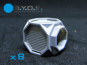 BYOS PART NANO CONTAINER RUGGED HEX  in Smooth Fine Detail Plastic